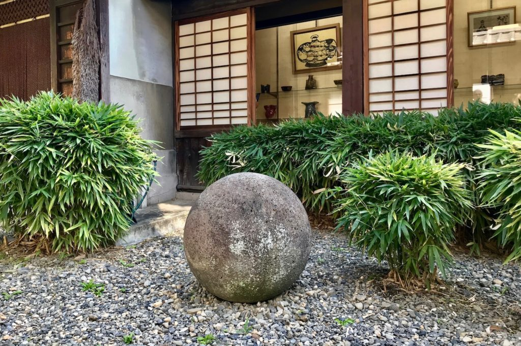 Stone in the courtyard