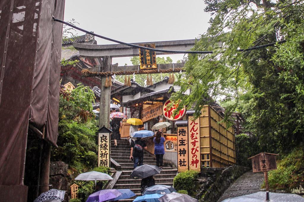 The path to Jishu-jinja at Kiyomizudera temple