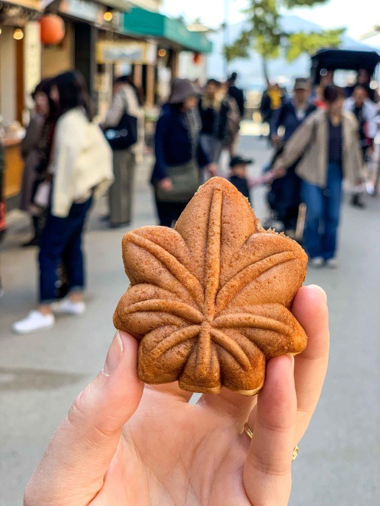 Momiji Manju make great Miyajima souvenirs