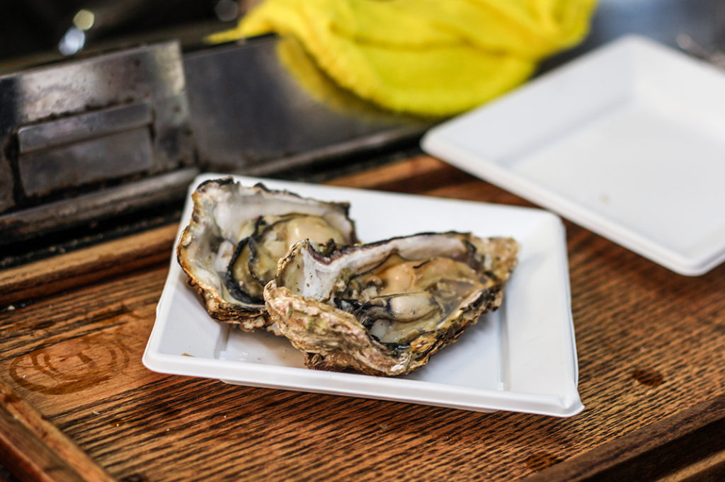 Miyajima foods: oysters