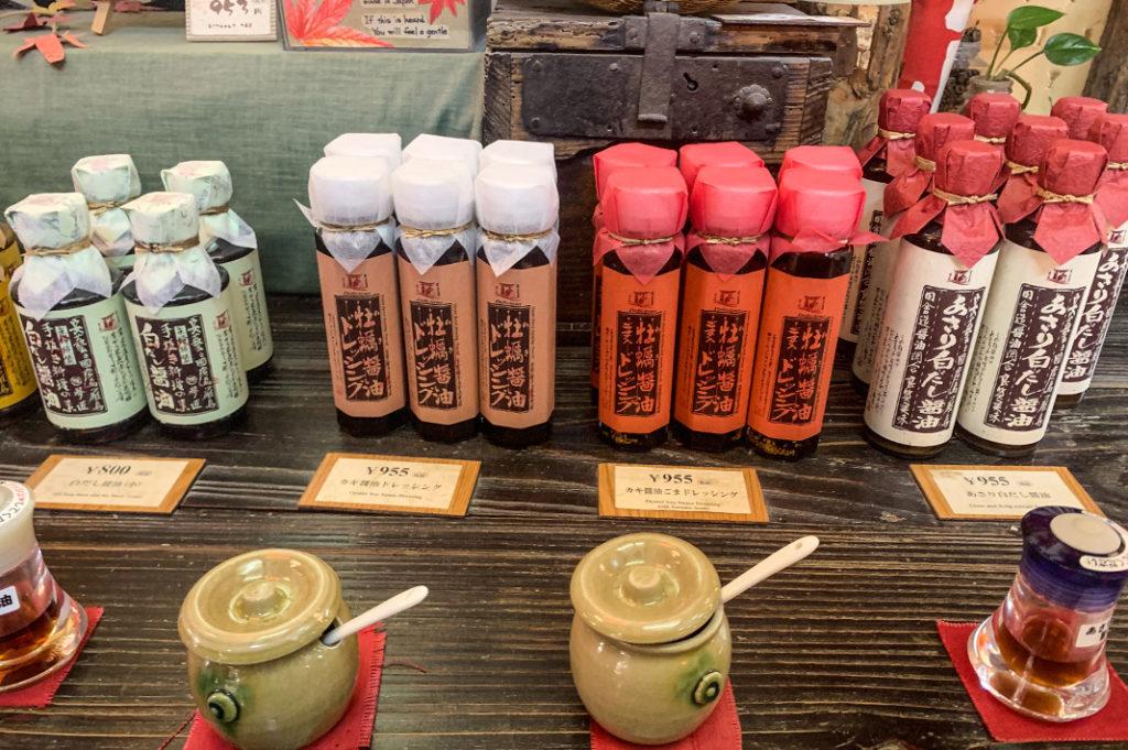 Oyster Soy Sauce make great Miyajima souvenirs