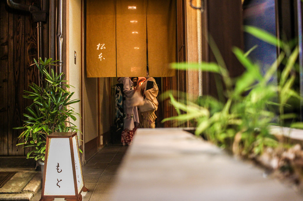 Things to do at night in Kyoto:  geisha spotting in Pontocho