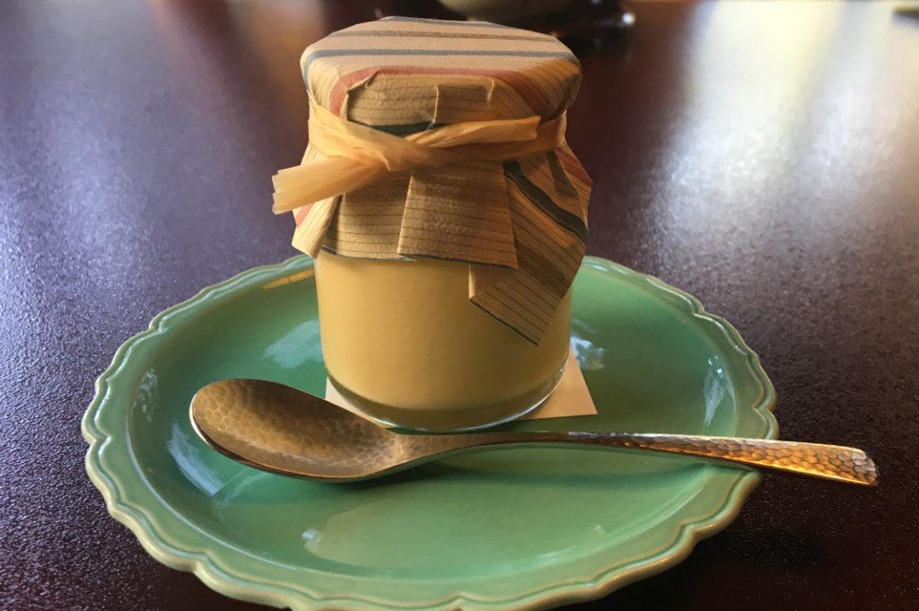 Soymilk (tofu) caramel pudding