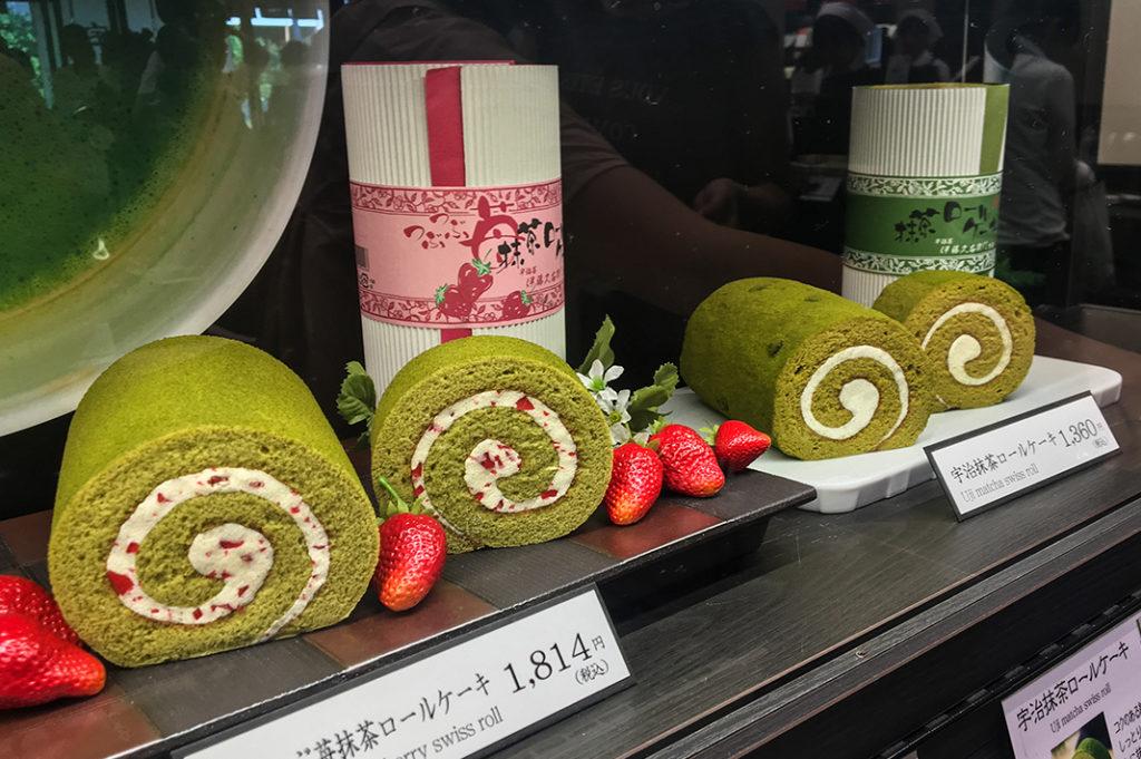 Matcha sweets in Uji, Kyoto