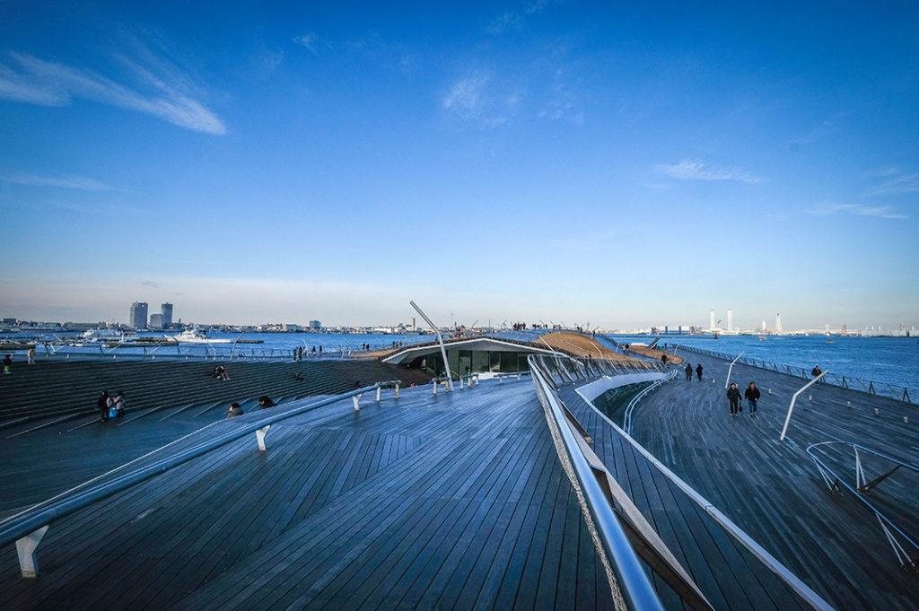 Osanbashi Pier, a.k.a the Yokohama International Passenger Terminal