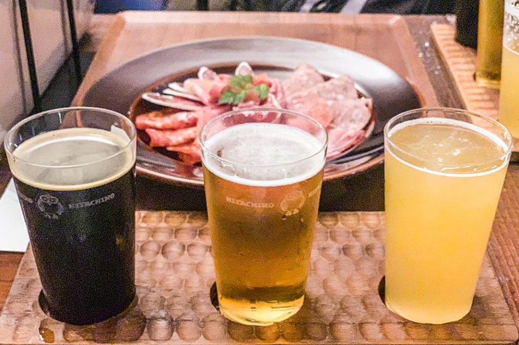 Delicious Japanese craft beer at Hitachino Brewing Lab, one of the best bars in Akihabara