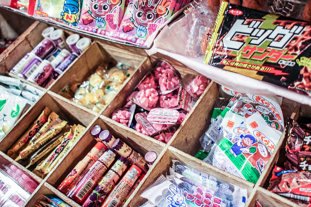 All you can eat candy at Tokyo's dagashi bars.