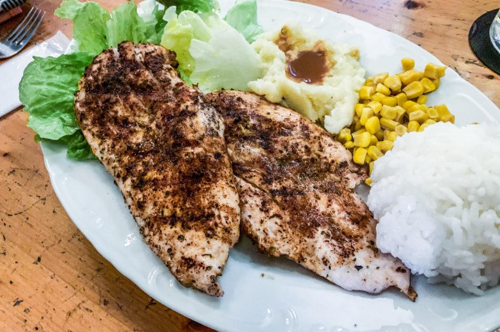 Food on Naoshima is varied and delicious! Just like at Shioya Diner in Miyanoura