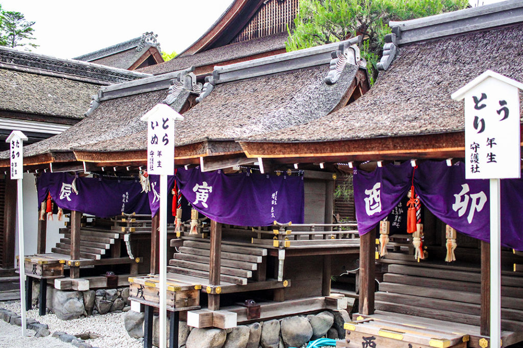 Zodiac Shrines at Shimogamo Shrine, one of the oldest shrines in Kyoto.