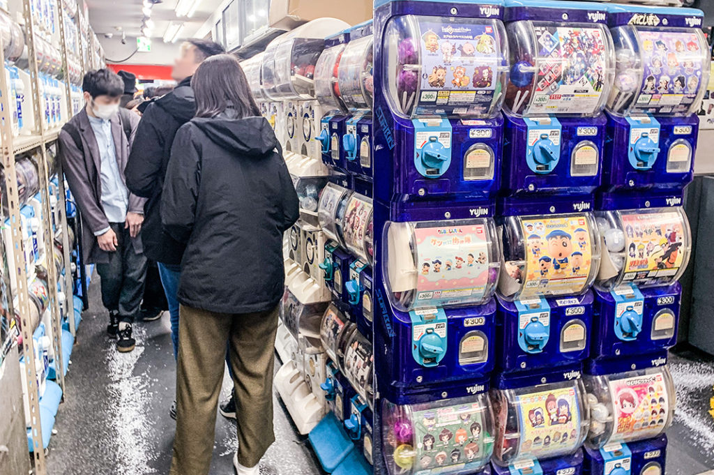 Gachapon (or gashapon) are a great cheap souvenir from Japan. Head to the Akihabara Gachapon Hall to choose from around 500 machines.