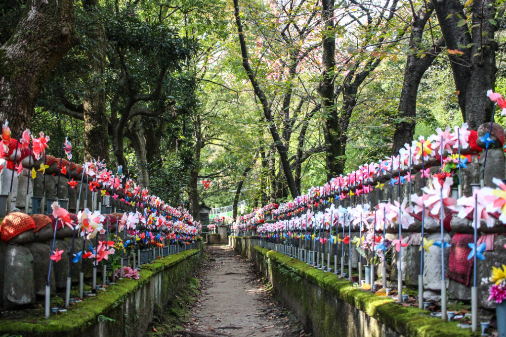 1,000 Jizo at Zojoji Temple, one of the most fascinating temples in Tokyo