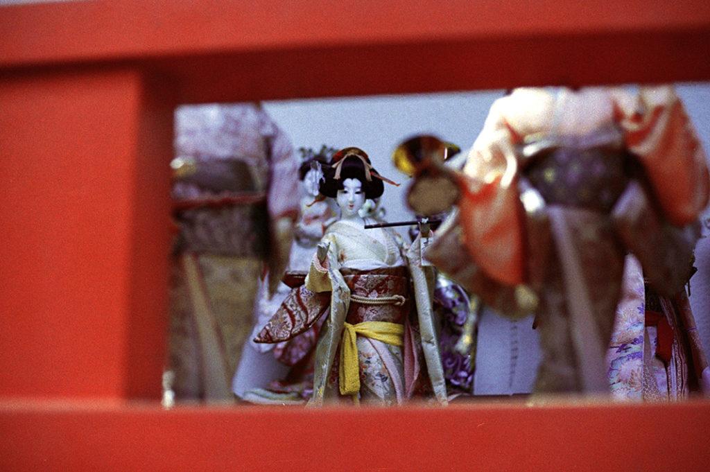 One of thousands of donated dolls and figurines at Kada's Awashima Shrine.