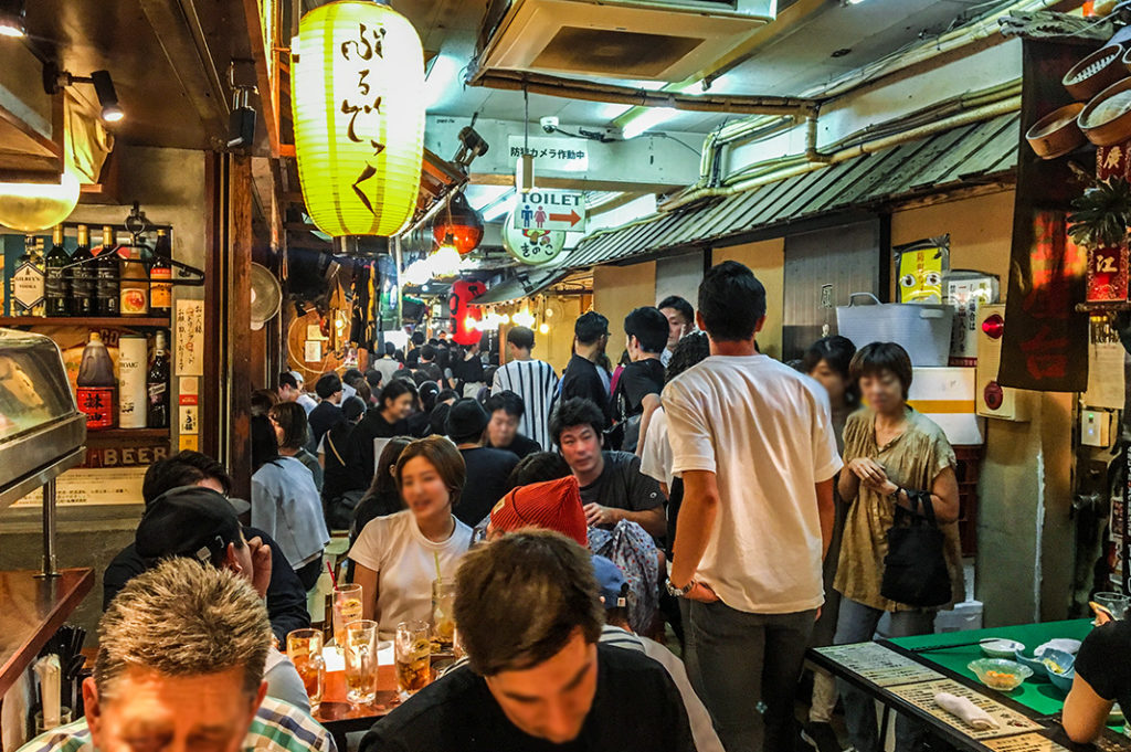 Over 20 Izakaya in Ebisu Yokocho, one of our favourite Tokyo Yokocho