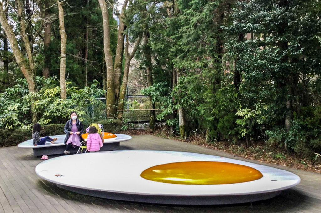 Sunny Side Up bench at Hakone Open Air Museum