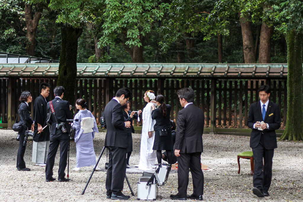 Sundays are for Shinto weddings at Meiji Shrine in Tokyo