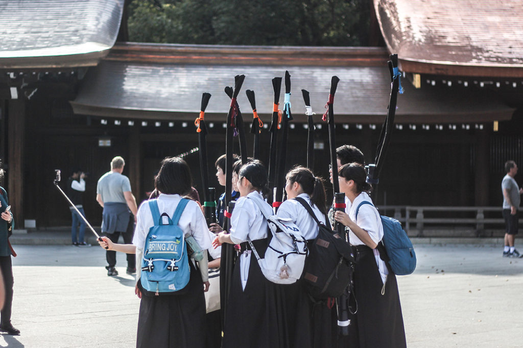 Great people watching at Meiji Shrine in Tokyo