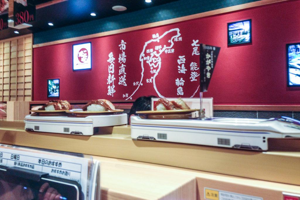 More fun than the conveyor belt: the sushi Shinkansen!