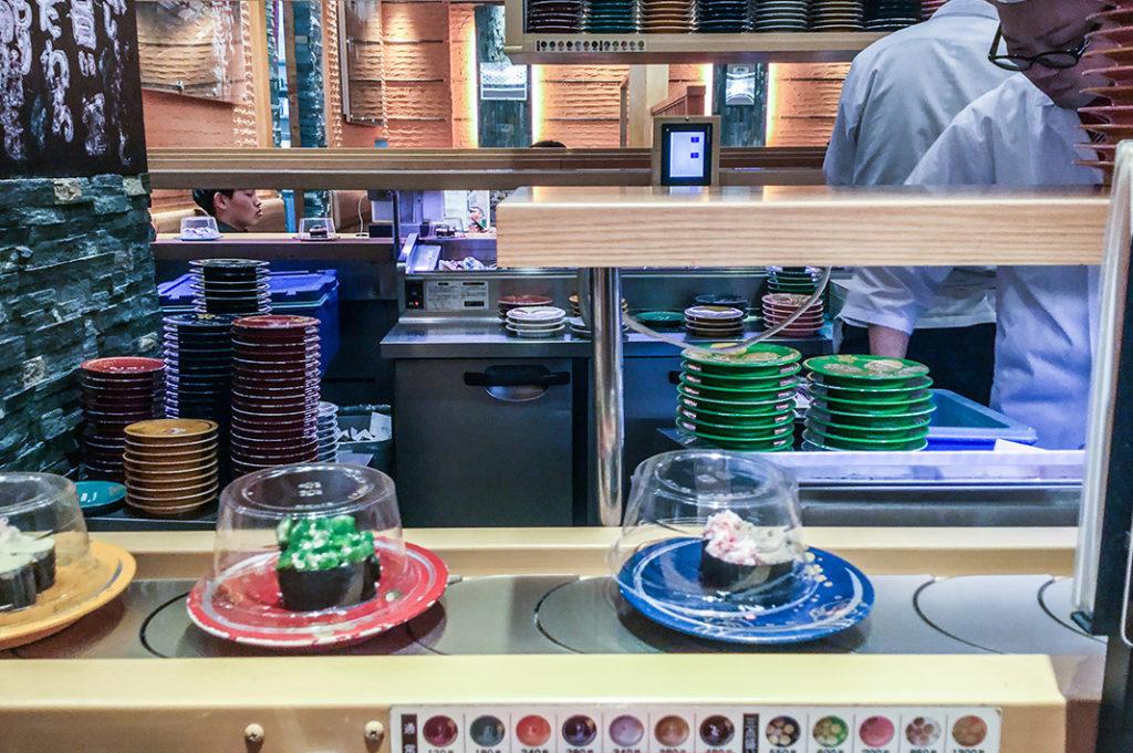 Conveyor belt sushi at Mori Mori Sushi