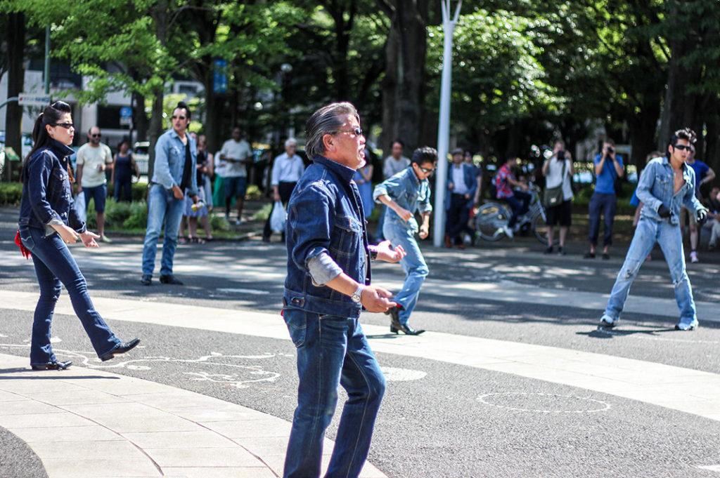 Rockabilly dancers at the Harajuku entrance to Yoyogi Park, Tokyo