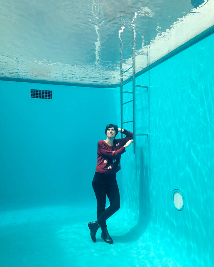 """A rare chance to go in a """"swimming pool"""" at an art museum!"""