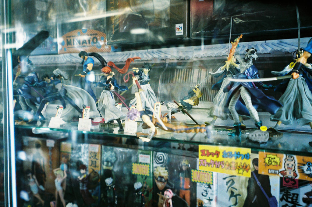 Every type of manga, anime or game-based character has its own figurine.