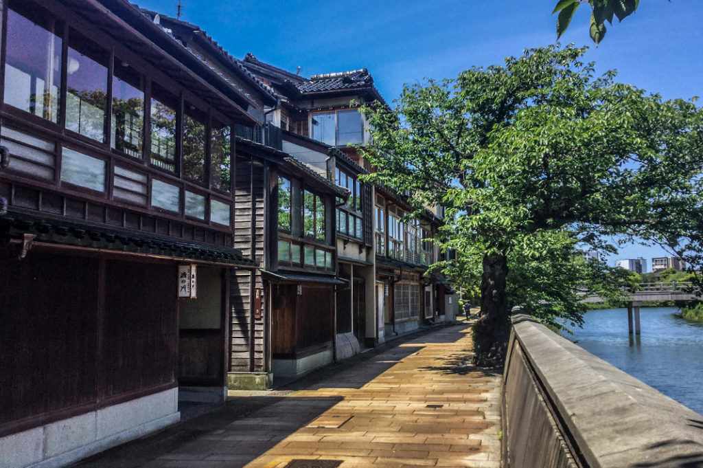 Kazue Machi, Kanazawa's most exclusive teahouse district.
