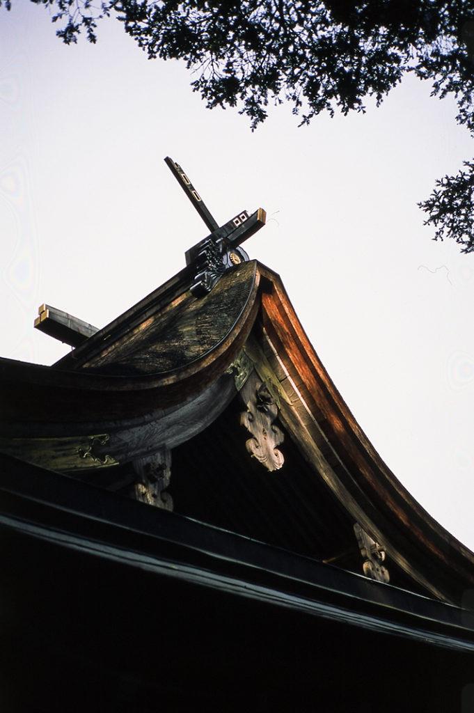 The first shrine you'll see on the island is the Munakata Nakatsugu.