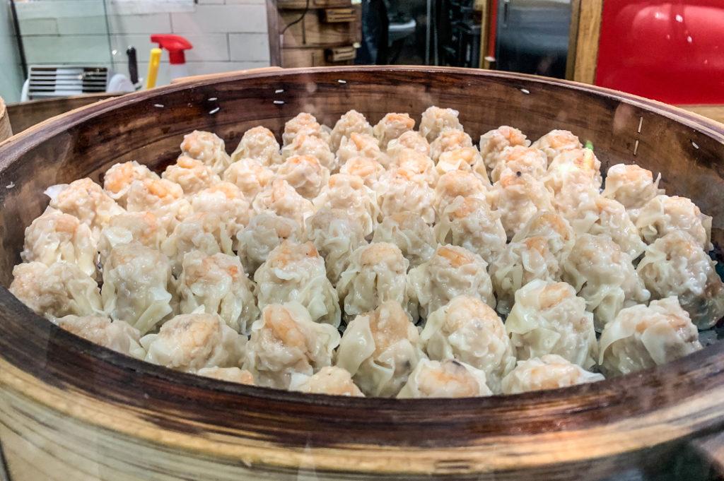 Dumplings at Tokyu Food Show Depachika at Shibuya Station