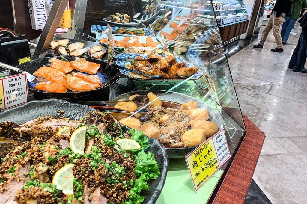 Prepared meals at Tokyu Food Show Depachika at Shibuya Station