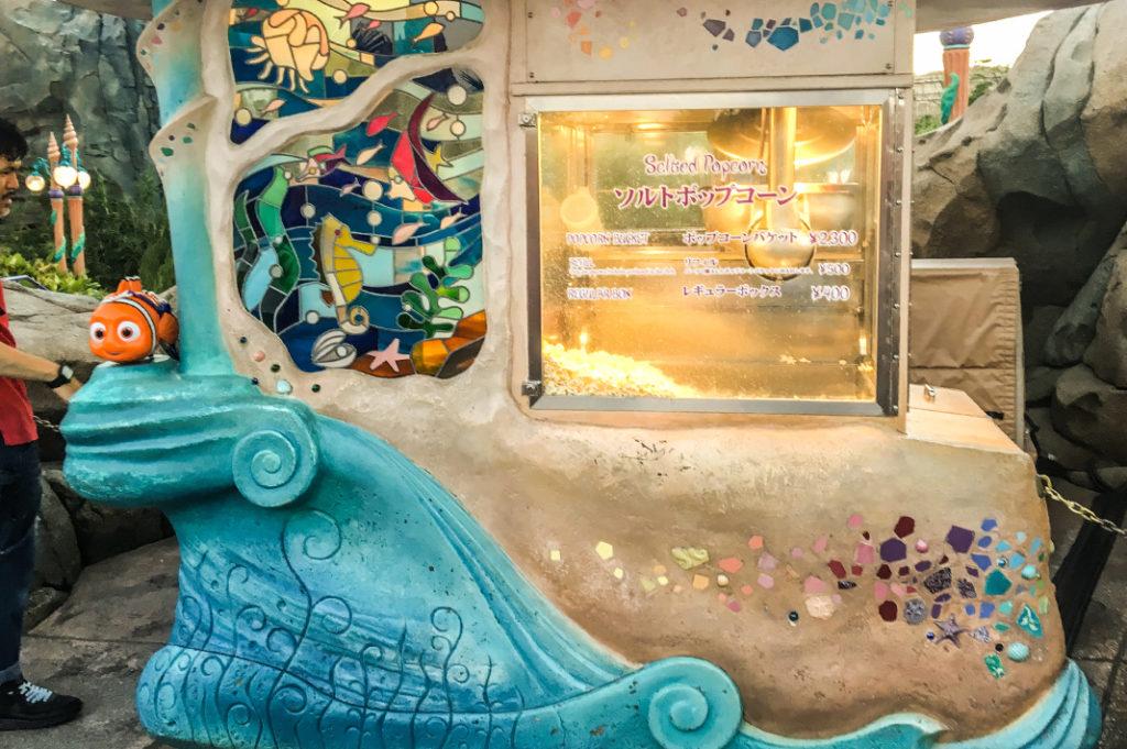 Disney themed popcorn in Mermaid Lagoon