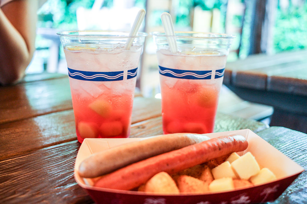 Food and cocktails from Yucatan Base Camp, Disney Sea