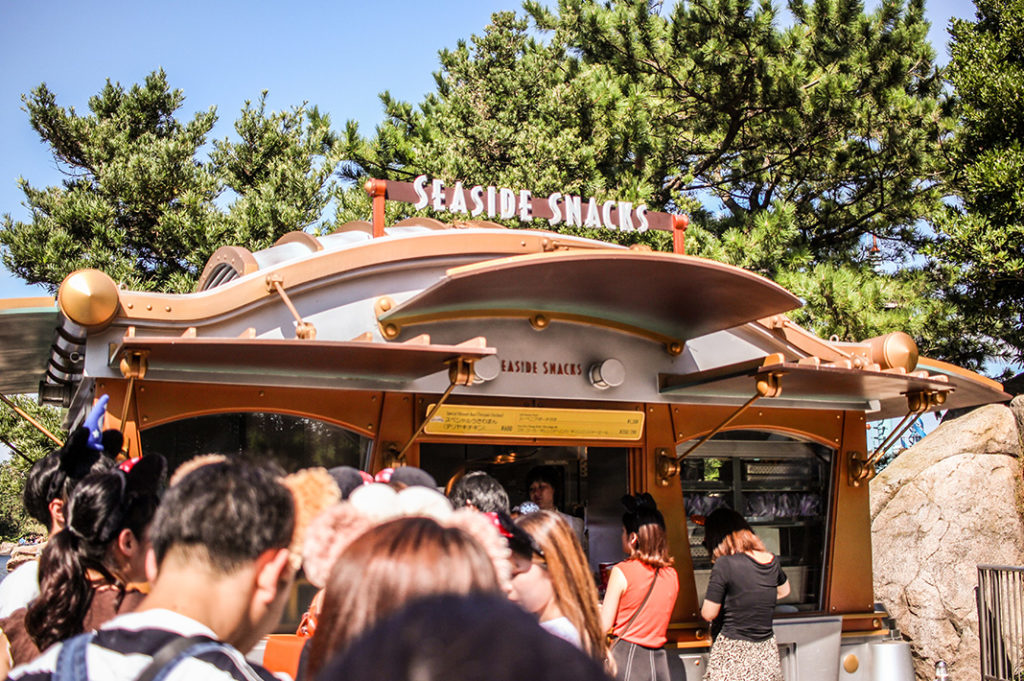 Disney themed food at Seaside Snacks in Port Discovery