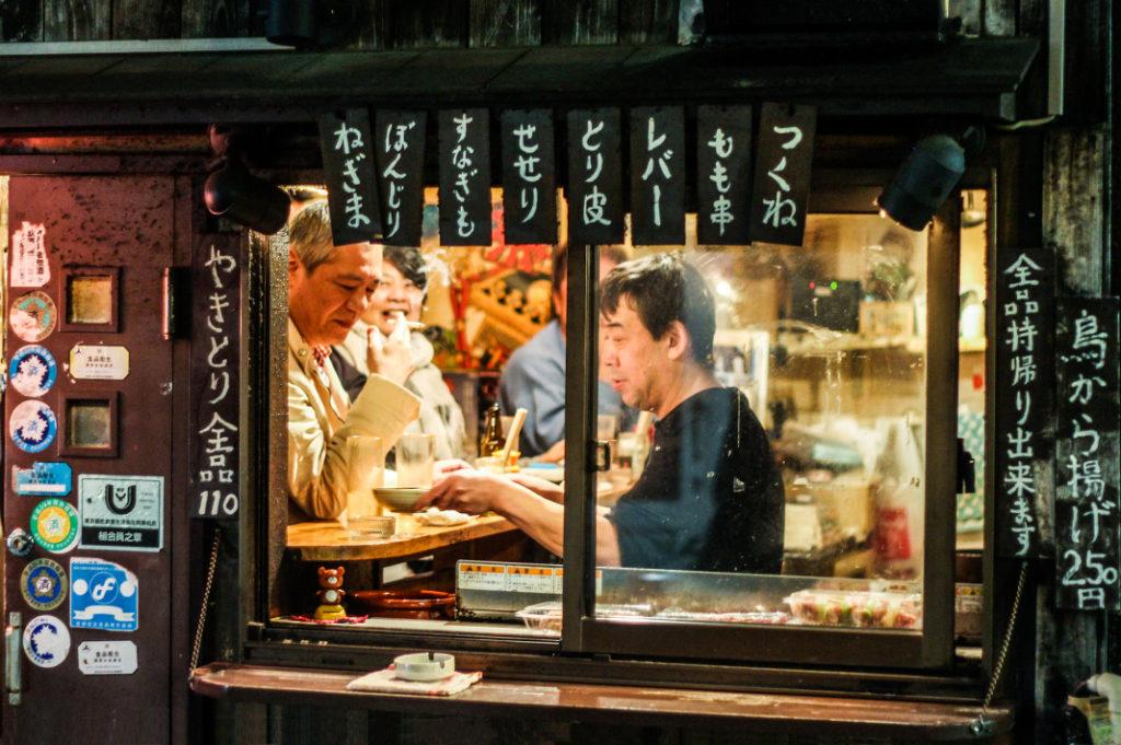Izakaya in Sankaku Chitai, one of our favourite Tokyo Yokocho