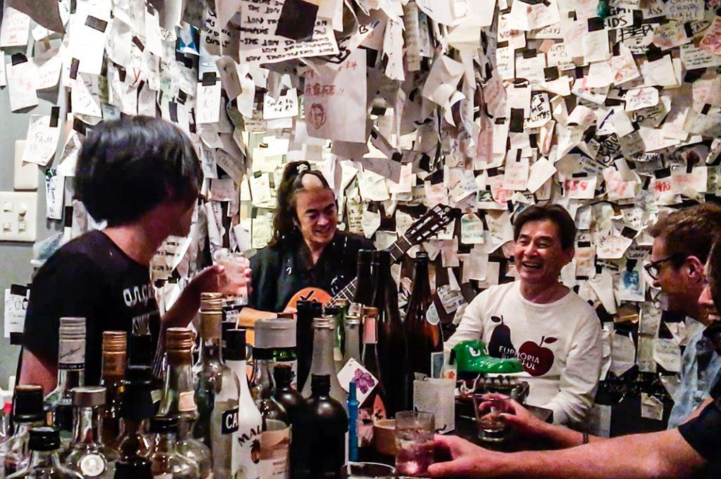 Inside 'Bar Not Suspicious' in Golden Gai.
