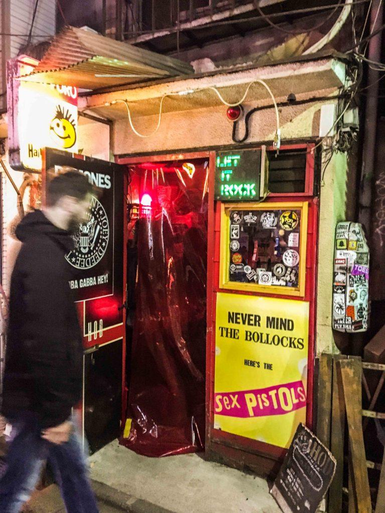 """Punk Rock bar """"Hair of the Dog"""" in Golden Gai"""