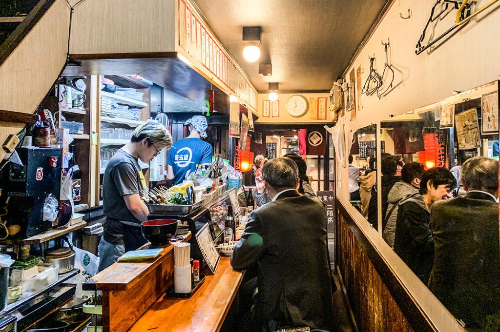 Izakaya in Omoide Yokocho, one of our favourite Tokyo Yokocho
