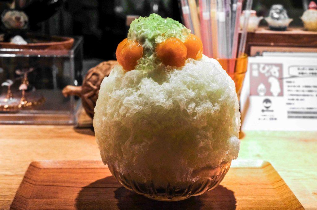 Premium melon kakigori
