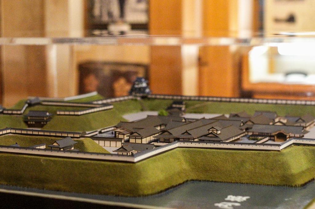 A model of an older Takada Castle, Niigata, Japan.