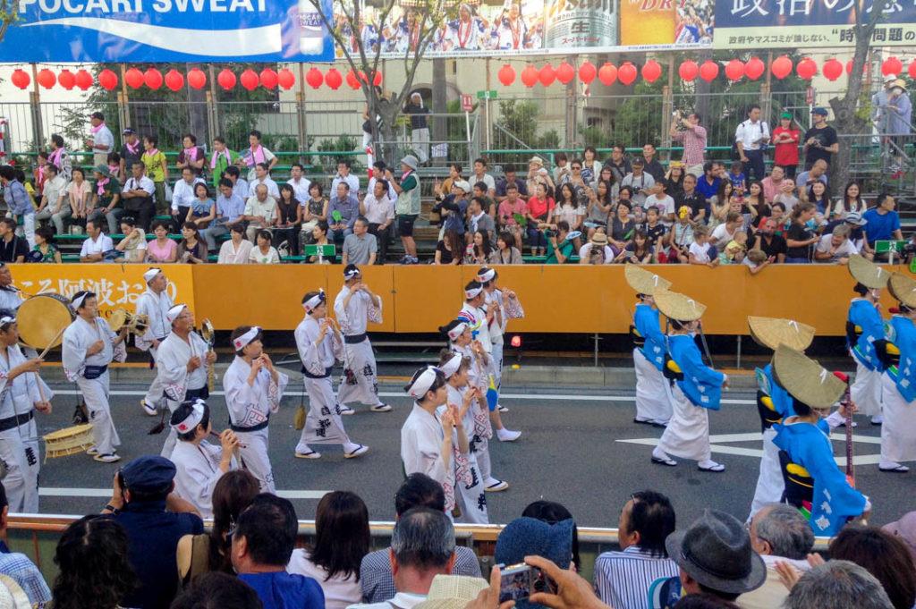 Musicians at Awa Odori festival