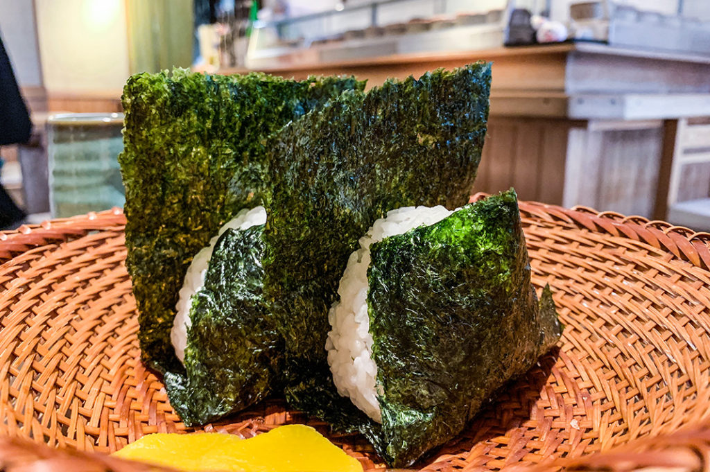 Onigiri: one of the many foods available at convenience stores. Also head to Japanese bakeries for some more familiar treats.