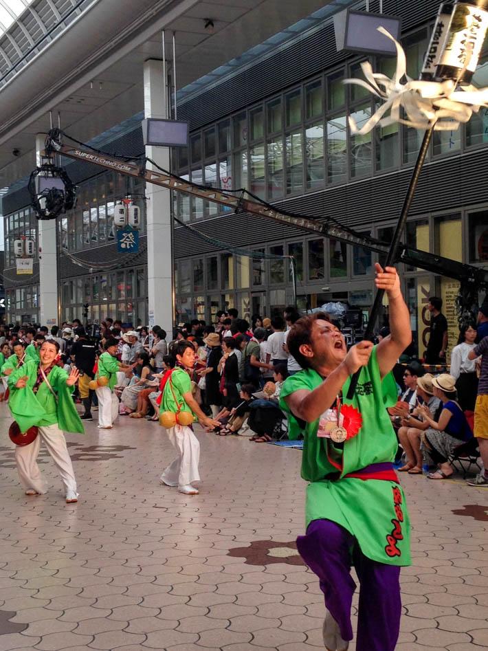 The amazing energy of the Yosakoi festival in Kochi.