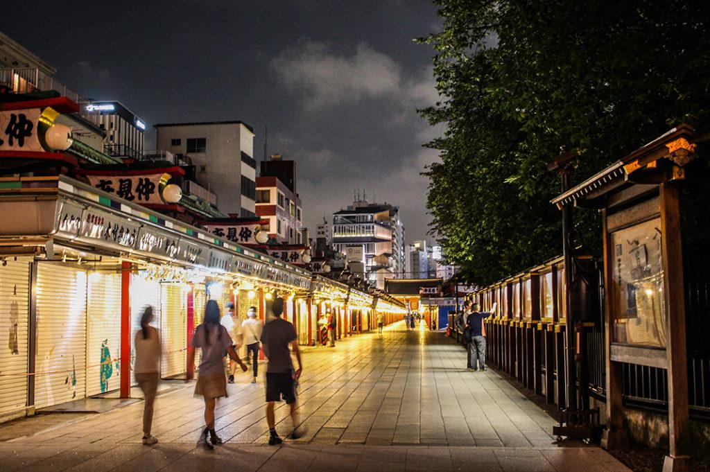 Nakamise dori at night