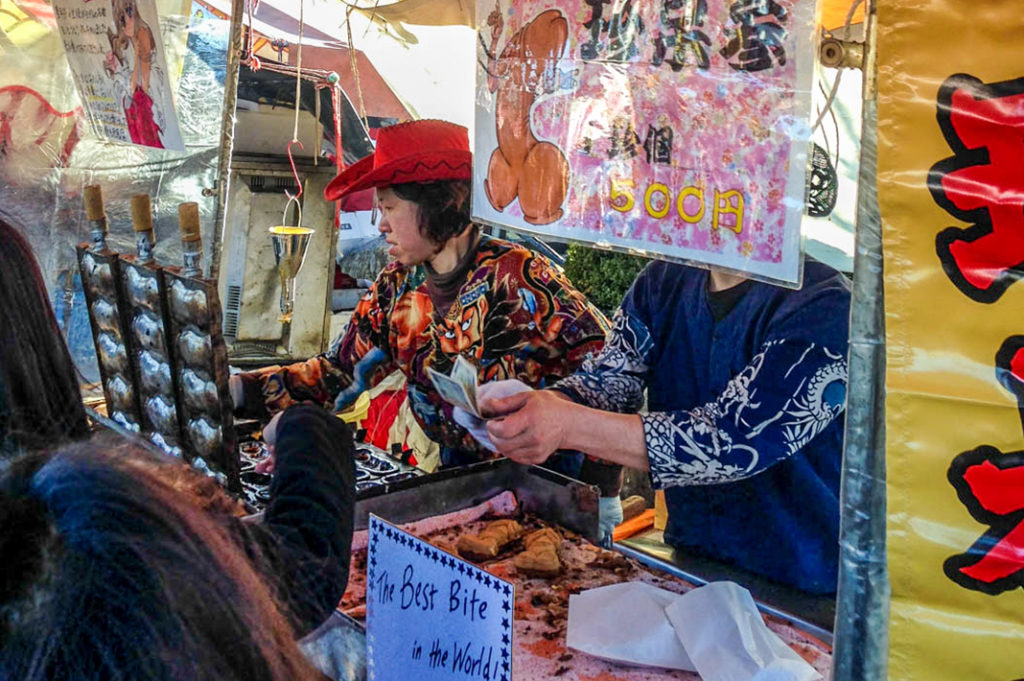 """The infamous taiyaki stand, offering """"The Best Bite in the World!"""""""