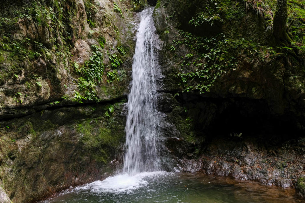 Nanayo-no-taki waterfall.