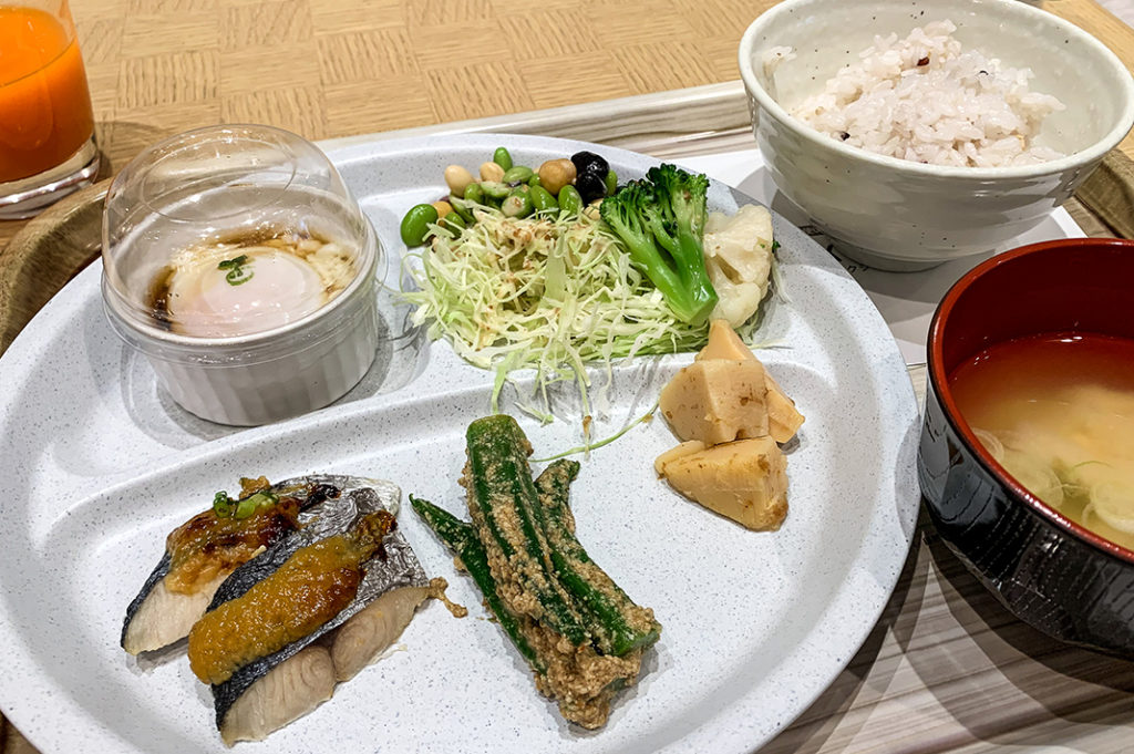 Breakfast buffet at Hotel Vista Fukuoka