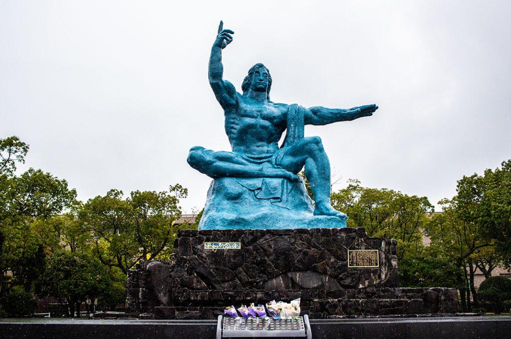 The Peace Statue at Nagasaki Peace Park