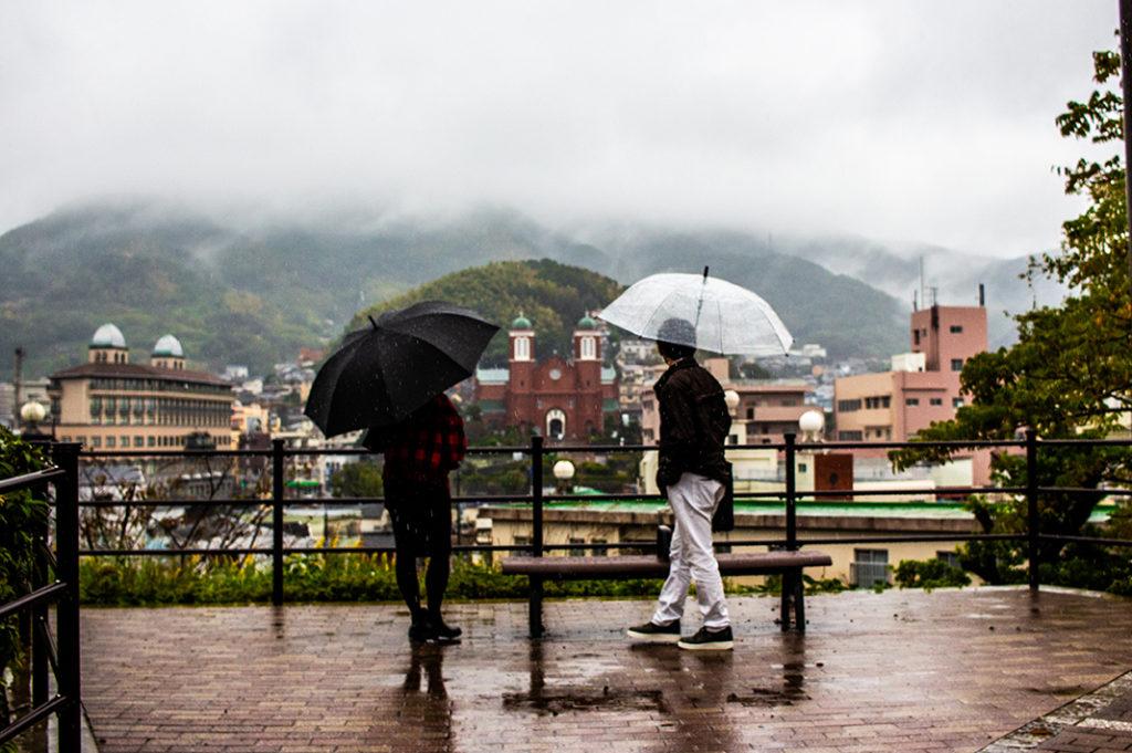 Misty day at Nagasaki Peace Park