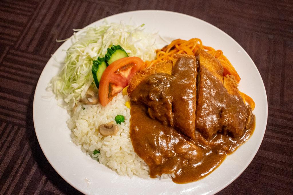 The Turkish rice piled high