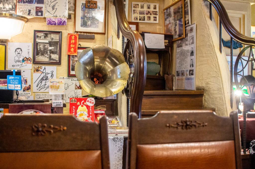 The interior of Tsuruchan cafe