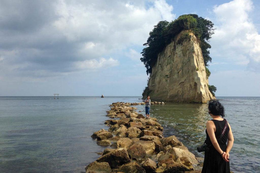 Mitsukejima, a locally famous attraction in Ishikawa